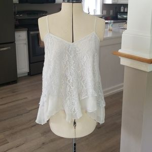White lace cami shirt